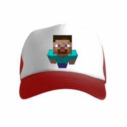 Детская кепка-тракер Steve from Minecraft