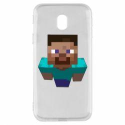 Чехол для Samsung J3 2017 Steve from Minecraft