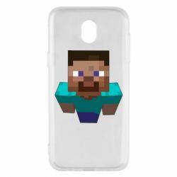 Чехол для Samsung J5 2017 Steve from Minecraft