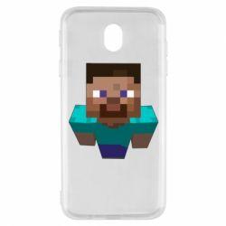 Чехол для Samsung J7 2017 Steve from Minecraft