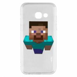 Чехол для Samsung A3 2017 Steve from Minecraft