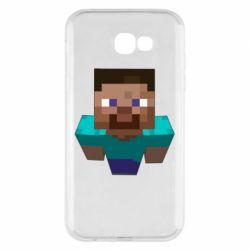 Чехол для Samsung A7 2017 Steve from Minecraft