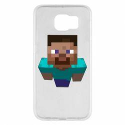 Чехол для Samsung S6 Steve from Minecraft