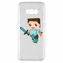Чехол для Samsung S8+ Steve minecraft