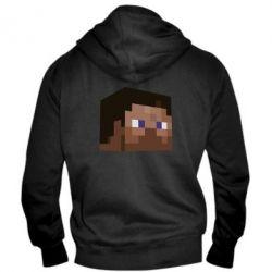 Мужская толстовка на молнии Steve Minecraft - FatLine