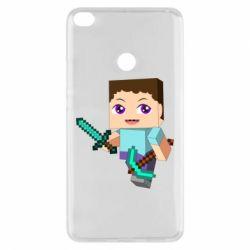 Чехол для Xiaomi Mi Max 2 Steve minecraft