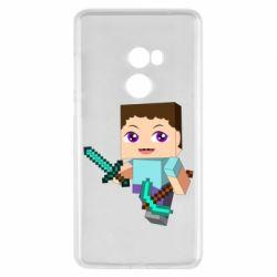 Чехол для Xiaomi Mi Mix 2 Steve minecraft