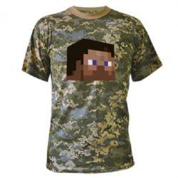 Камуфляжная футболка Steve Minecraft - FatLine