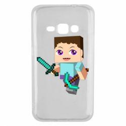 Чехол для Samsung J1 2016 Steve minecraft