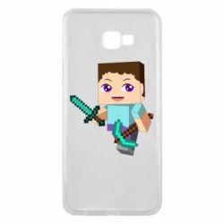 Чехол для Samsung J4 Plus 2018 Steve minecraft