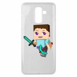 Чехол для Samsung J8 2018 Steve minecraft