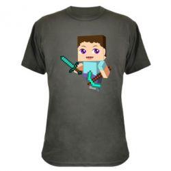 Камуфляжная футболка Steve minecraft