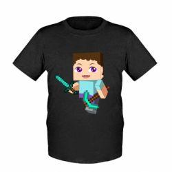 Детская футболка Steve minecraft