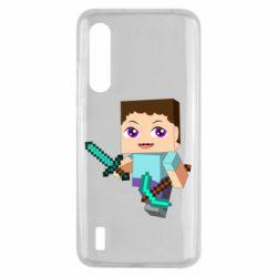 Чехол для Xiaomi Mi9 Lite Steve minecraft