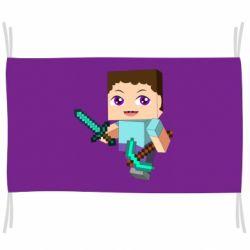Флаг Steve minecraft
