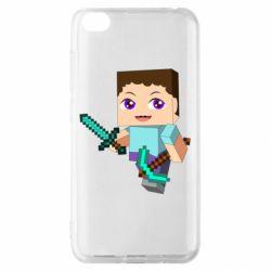 Чехол для Xiaomi Redmi Go Steve minecraft