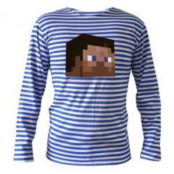 Тельняшка с длинным рукавом Steve Minecraft - FatLine