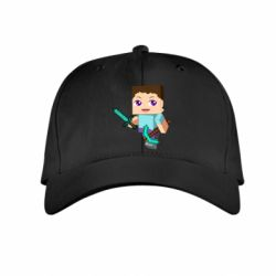 Детская кепка Steve minecraft