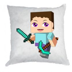 Подушка Steve minecraft