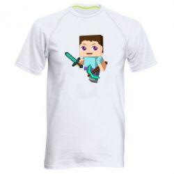 Мужская спортивная футболка Steve minecraft