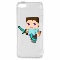 Чехол для iPhone5/5S/SE Steve minecraft
