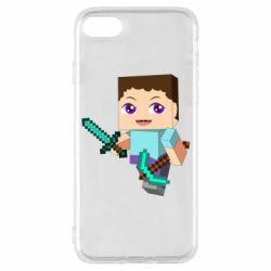Чехол для iPhone 7 Steve minecraft