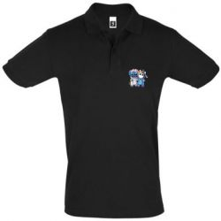 Мужская футболка поло Стич и единорог