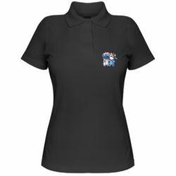 Женская футболка поло Стич и единорог