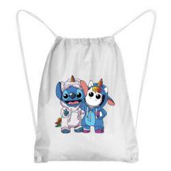 Рюкзак-мешок Стич и единорог
