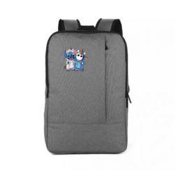 Рюкзак для ноутбука Стич и единорог