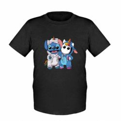 Детская футболка Стич и единорог