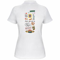 Жіноча футболка поло Sticker New York