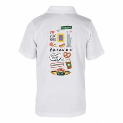 Дитяча футболка поло Sticker New York