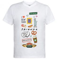 Чоловіча футболка з V-подібним вирізом Sticker New York