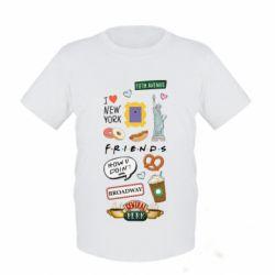 Дитяча футболка Sticker New York