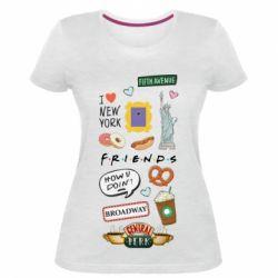 Жіноча стрейчева футболка Sticker New York