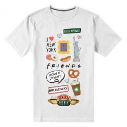 Чоловіча стрейчева футболка Sticker New York
