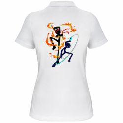 Жіноча футболка поло Stickman