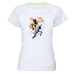 Жіноча спортивна футболка Stickman
