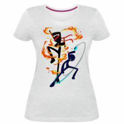 Жіноча стрейчева футболка Stickman