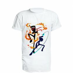 Подовжена футболка Stickman