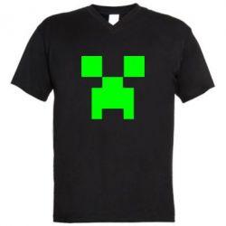 Мужская футболка  с V-образным вырезом Stive? Face - FatLine