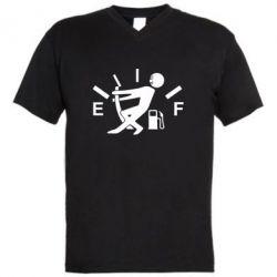 Мужская футболка  с V-образным вырезом Stop, fuel!