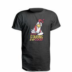 Удлиненная футболка Stop  Staring  at My cock