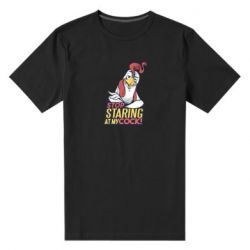Мужская стрейчевая футболка Stop  Staring  at My cock