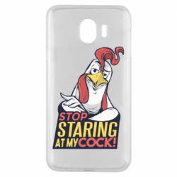 Чехол для Samsung J4 Stop  Staring  at My cock