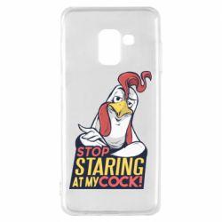 Чехол для Samsung A8 2018 Stop  Staring  at My cock