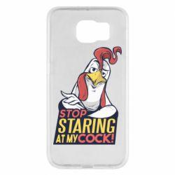Чехол для Samsung S6 Stop  Staring  at My cock