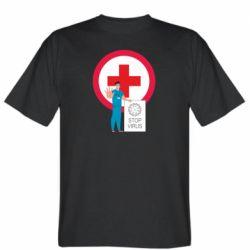 Чоловіча футболка Stop virus and doctor