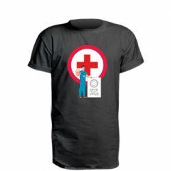 Подовжена футболка Stop virus and doctor